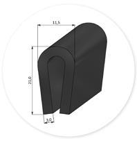 (Spons)rubber U-profiel